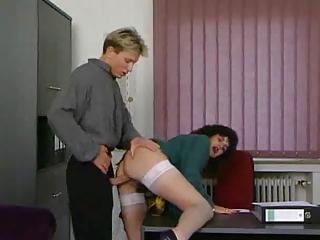 older secretary receives drilled