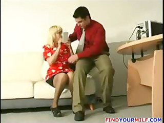 youthful boss tempt aged secretary