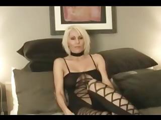 aged blond angel jan b wears a hawt dark outfit