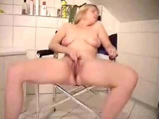 cute older wife masturbates in front of webcam