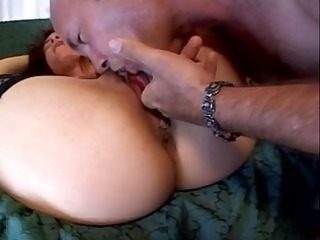 mature darksome brown deep face holes a big white