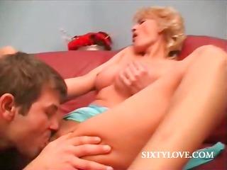 hot oral pleasure with lusty older hottie