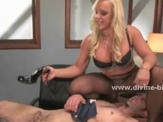 golden-haired milf dominatrix-bitch using her