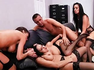 fleshly darksome haired milfs in nylons acquire
