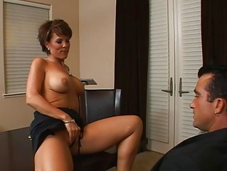 amazing breasty brunette milf getting her pussy