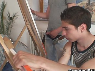juvenile painters team fuck granny