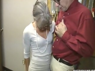 granny jerking an old dude