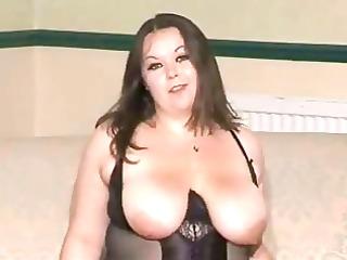 gal in black girdle