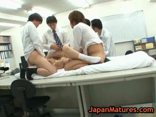 older natsumi kitahara group-fucked