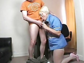 juvenile golden-haired mother i nurse blows hard