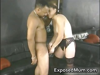 pounded by a large dark knob