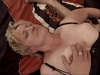 golden-haired granny fisted and screwed