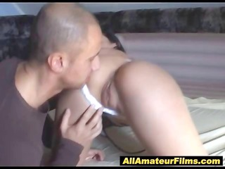 milf sucking pecker while slapping her vagina