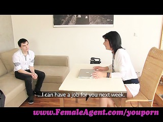 femaleagent. mother i casts young, nervous fellow