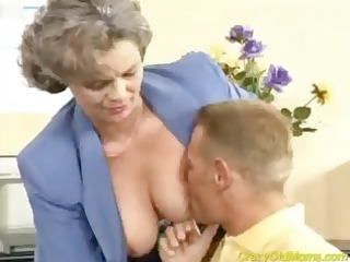 insane old mamma acquires ramrod fucked in the