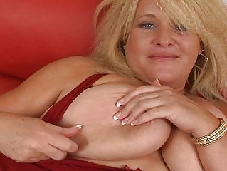 giant golden-haired momma with giant bosom
