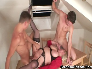 naughty granny pleases repairmen