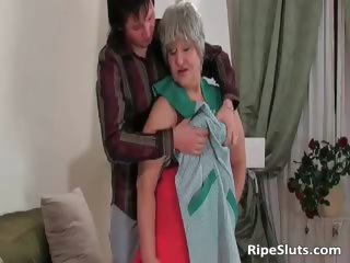 breasty bulky mature bitch receives moist meaty