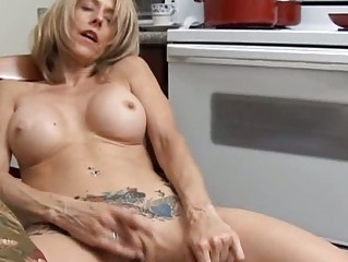 sexy milf has a wet slit
