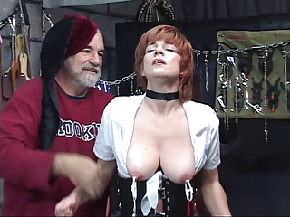 hot, older redhead receives her pussy toyed with,