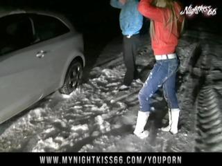 nightkiss33 - im schnee gefickt