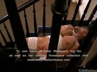 busty wife takes a stairway to joy