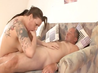 bulky mature german brunette hair with tattoos