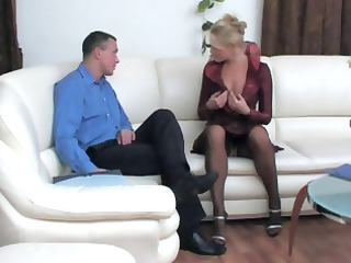 blonde russian mom acquires licked and then