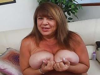 aged momma with additional massive bosom sticks