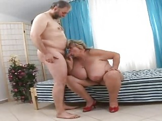 biggest grandmother engulfing fortunate old wang