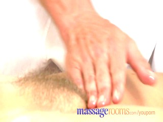 massage rooms mature woman with curly pussy given