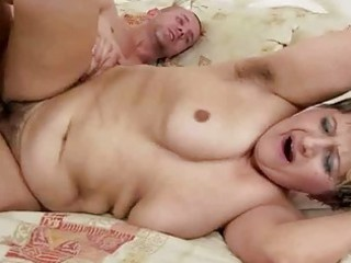 hairy granny receives screwed beautiful hard