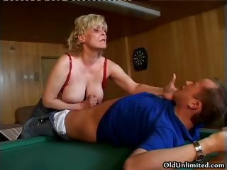 naughty sexually excited old mommy with large