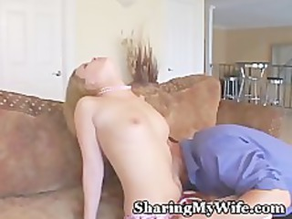 wife in pink underware shared