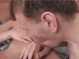 youthful blond twink acquires his cock sucked by