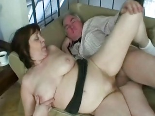 granny working a hard pecker like a real champ