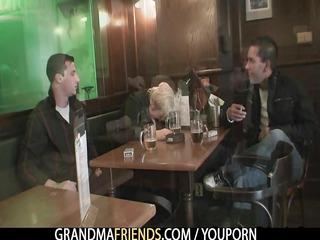 hawt three-some with nasty granny