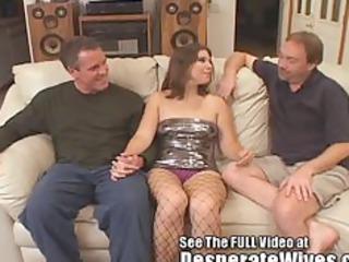 dana fulfills her bitch wife mfm three way
