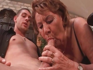 lustful 711yo granny sucks on a youthful chaps