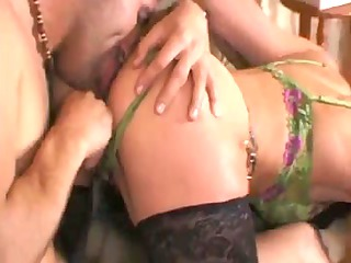 mature receives vicious with her younger