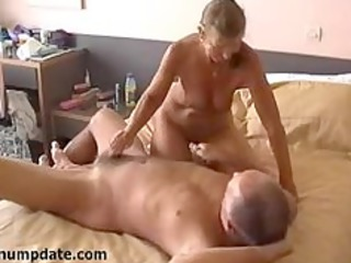 sexually excited wife jerks off hubbys schlong