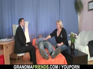 large grandma takes dicks