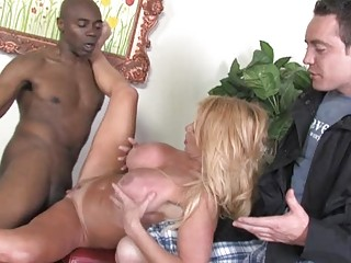 juvenile foxy blonde milf gets pumped by black