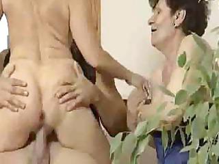 anal granny three-some