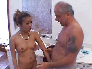 grandpa blown by hot oriental hotty in shower 11