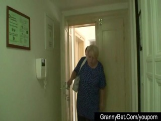 biggest titted grandma pleases a stranger