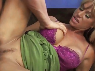 breasty blonde milf group-fucked by huge raging
