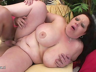 giant titted mom getting a face hole full of goo