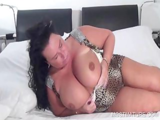 slutty mature touching herself
