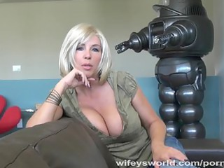 wifeys world - breasty neighbour sucks ramrod and